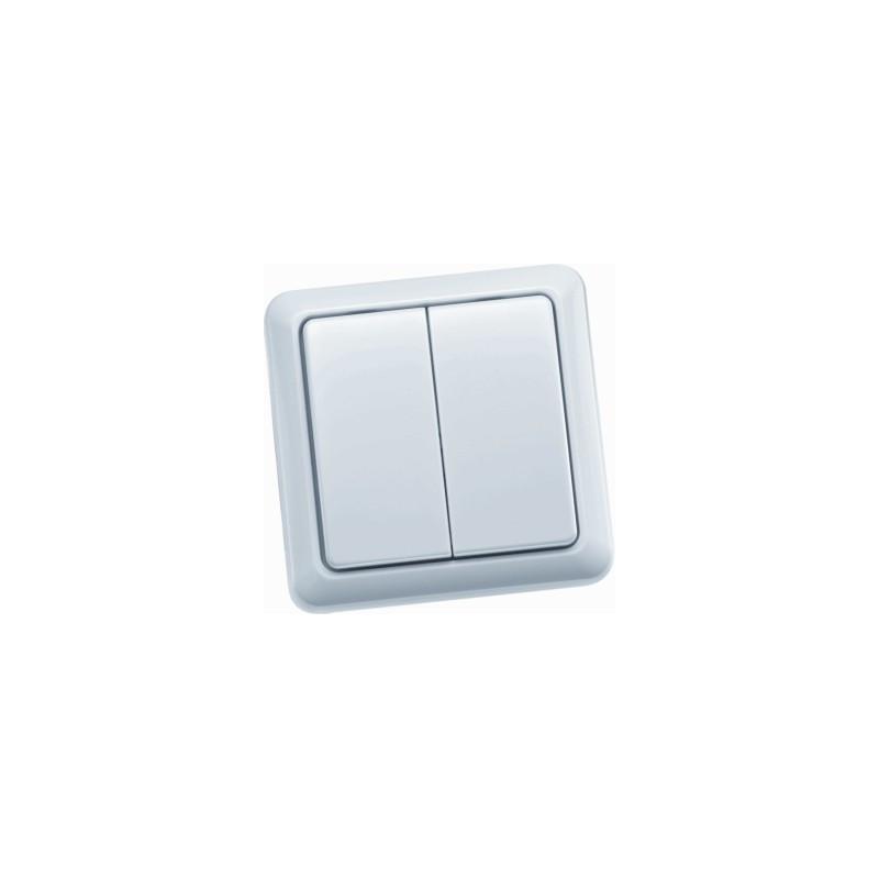 Draadloze wandschakelaar dubbel, AWST8802