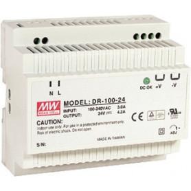 Gordijn 24VDC DIN-rail voeding 4.2A
