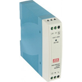 Meanwell Voeding MDR10-12VDC-0,84A