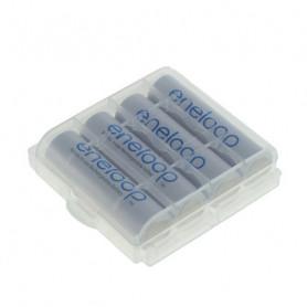 Eneloop AA 2000mAh 4 stuks in batterij houder