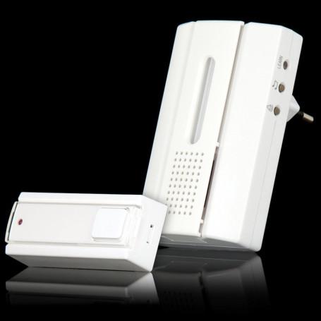 Draadloze deurbel met draadloze drukknopzender,ACDB-7000AC