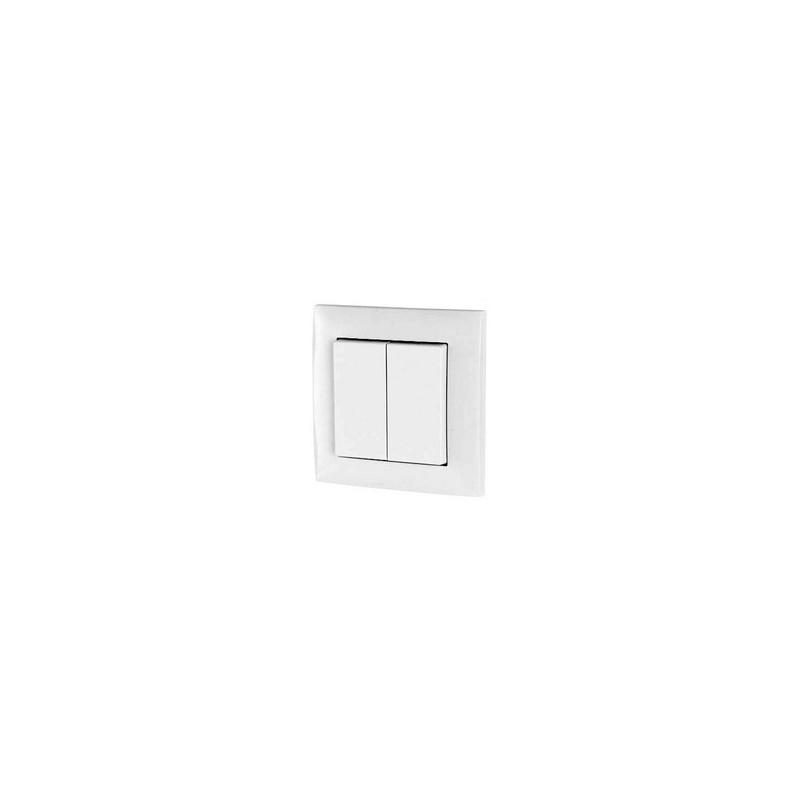 XCOMFORT Wandschakelaar universeel 55 mm, 2-voudig, Wit