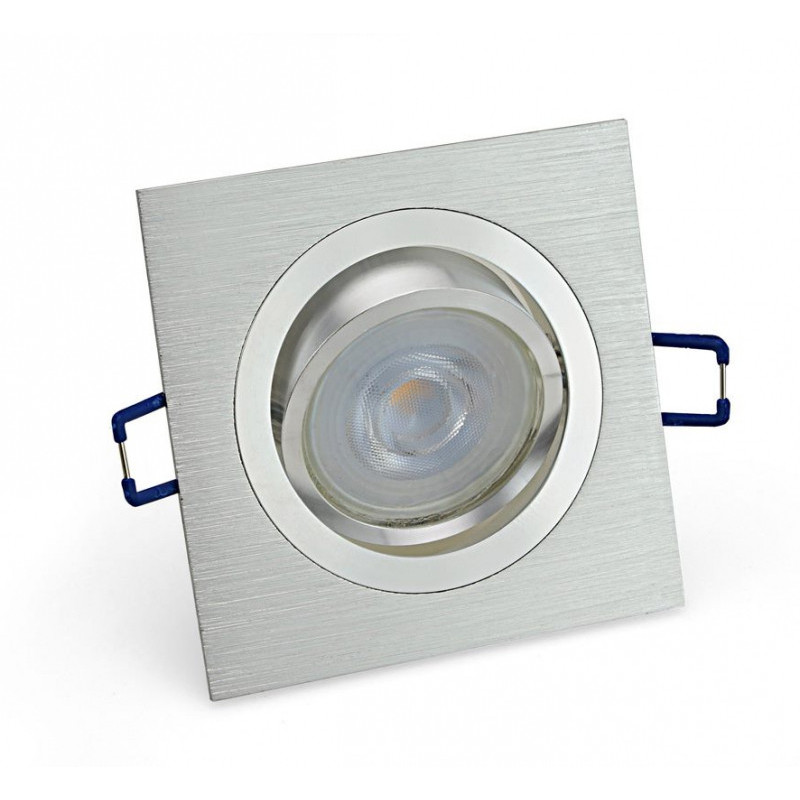 Inbouwspot – GU10 - 4.4W – 2700K – Vierkant Zilver