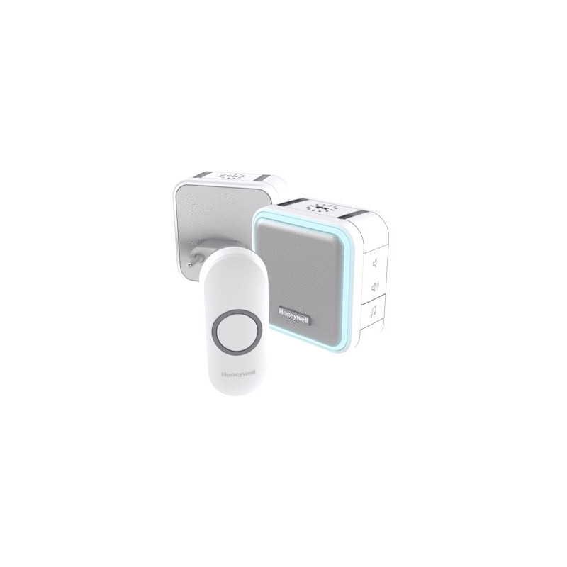 Honeywell Draadloze draagbare en plug-in deurbel - Wit