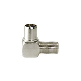 Coax-Adapter F F-Connector Female - Coax Male (IEC) Zilver