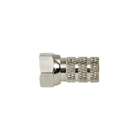 F-Connector Female / Male Nylon 6.6 Zilver