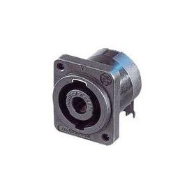 Appliance plug, Speakon Zwart 4P