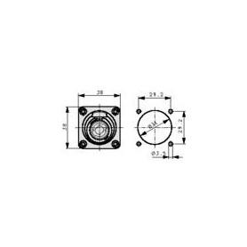 Built-in plugs Speakon® STX Zwart 4P