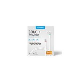 Coax-Adapter 4x / F-Male - IEC Male Aluminium