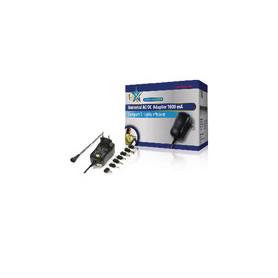 Universele AC Stroom Adapter 3 VDC / 4.5 VDC / 5 VDC / 6 VDC / 7.5 VDC / 9 VDC / 12 VDC 1000 mA