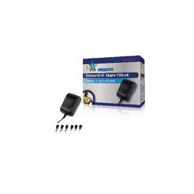 Universele AC Stroom Adapter 3 VDC / 4.5 VDC / 5 VDC / 6 VDC / 7.5 VDC / 9 VDC / 12 VDC 1500 mA