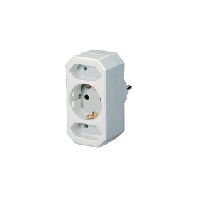 Stopcontact Splitter 1 x Schuko / 2 x Euro Wit