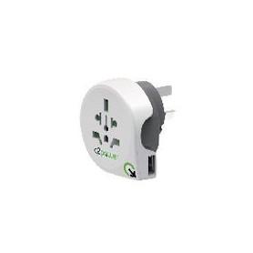 Reisadapter Wereld-naar-Australië USB Geaard