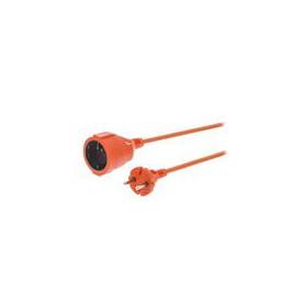 Stroom Verlengkabel 10 m H05VV-F 2X1.5 Oranje