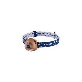 Hoofdlamp 1 LED Bruin / Blauw