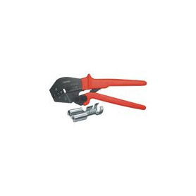 Crimping pliers Uninsulated, open plug connectors, 4.8 + 6.3 mm 0.5...6 mm²