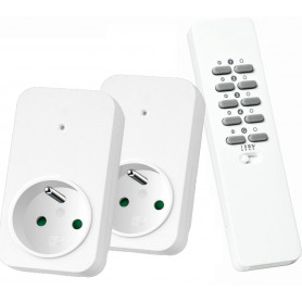Set draadloos dimmen BE/FR (met 2 x dimmer led, halogeen, gloei)