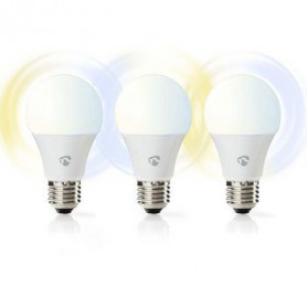 Wi-Fi smart LED-lamp | Warm- tot koud-wit | E27 | 3-Pack