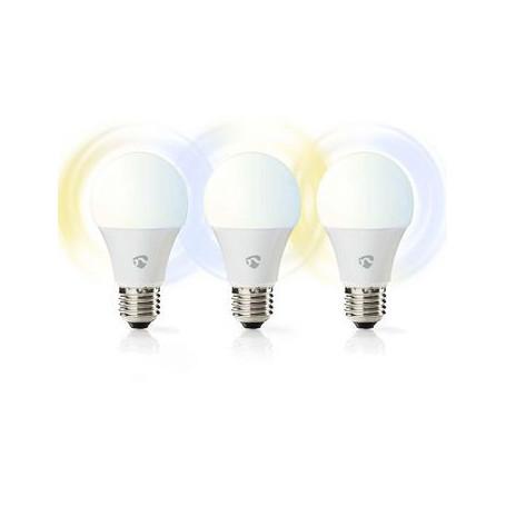 Wi-Fi smart LED-lamp   Warm- tot koud-wit   E27   3-Pack