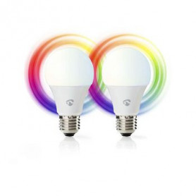 Wi-Fi smart LED-lamp | Full-Colour en warm -wit | E27 | 2-Pack