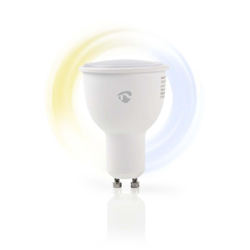 Wi-Fi smart LED-lamp   Warm- tot Koud-Wit   GU10