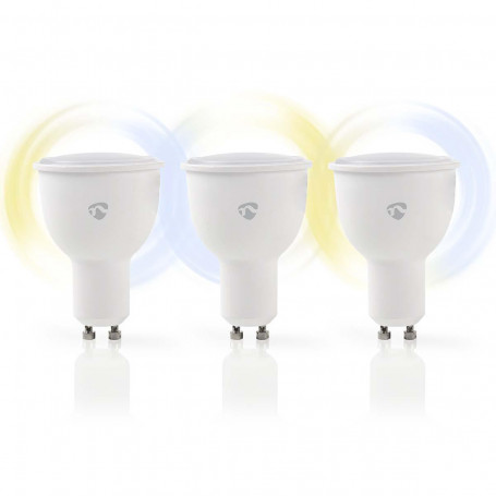 Wi-Fi smart LED-lamp | Warm- tot Koud-Wit | GU10 | 3-Pack
