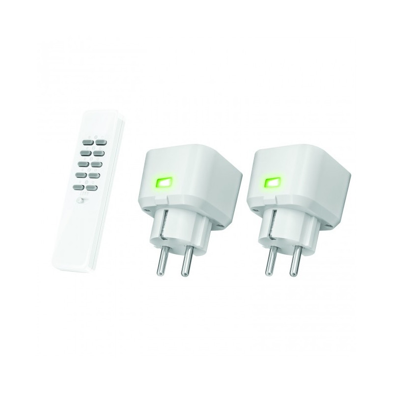 Set Compacte Stopcontact Dimmers (met 2 x dimmer led, halogeen, gloei) ACC-250R