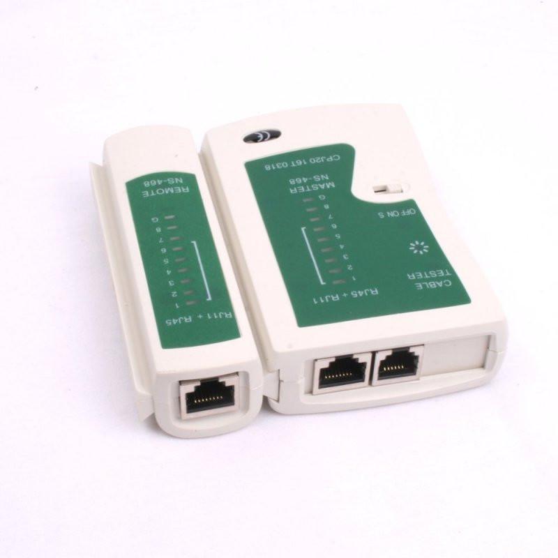 LAN/NETWERK kabel tester - RJ45-RJ11