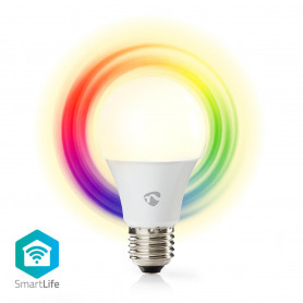 Wi-Fi smart LED-lamp | Full-Colour en Warm-Wit | E27