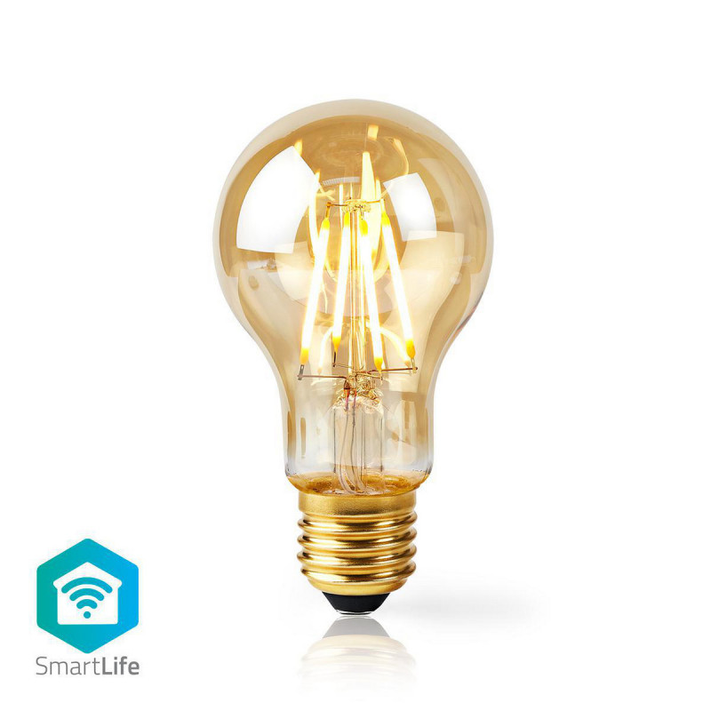 Wi-Fi Smart LED Filament Lamp   E27   A60   5 W   500 lm