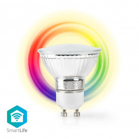 Wi-Fi smart LED-lamp | Full-Colour en Warm-Wit | GU10-PAR16