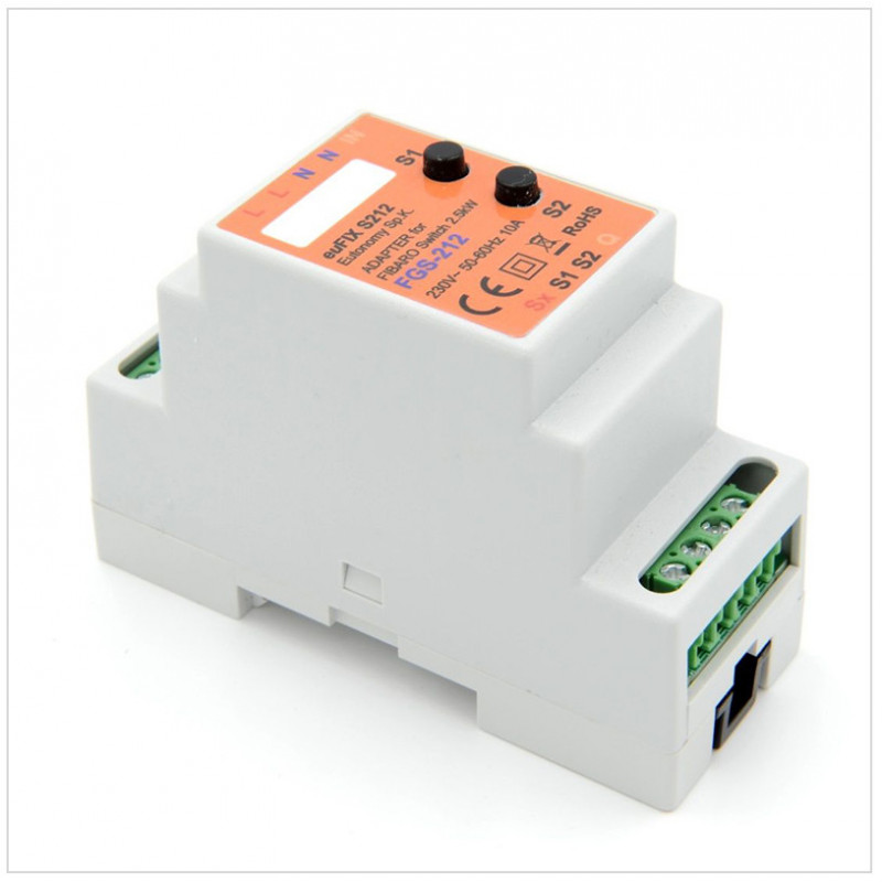 euFIX S212 voor FGS-212 Fibaro Relay Switch 1x2.5 kW