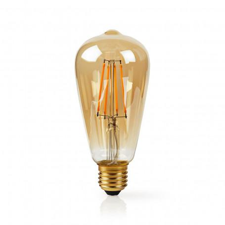 Wi-Fi Smart LED Filamentlamp Goud | E27 | ST64 | 5 W | 500 lm