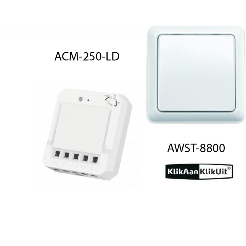 Klikaanklikuit Dimmer inbouwset - AWST-8800 + ACM-LD-250