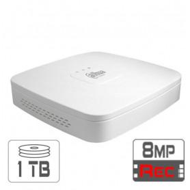 Dahua 4-poorts netwerk disk met 1TB HD