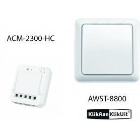Klikaanklikuit Schakel inbouwset - AWST-8800 + ACM-2300-HC