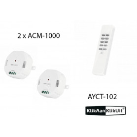 Klikaanklikuit Schakel dubbel inbouwset - AYCT-102 + 2 x ACM-1000