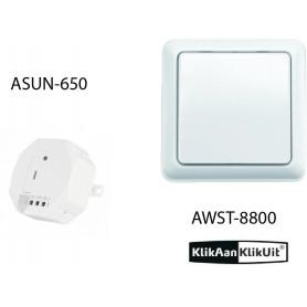 Klikaanklikuit zonwering/rolluik set - AWST-8800 + ASUN-650