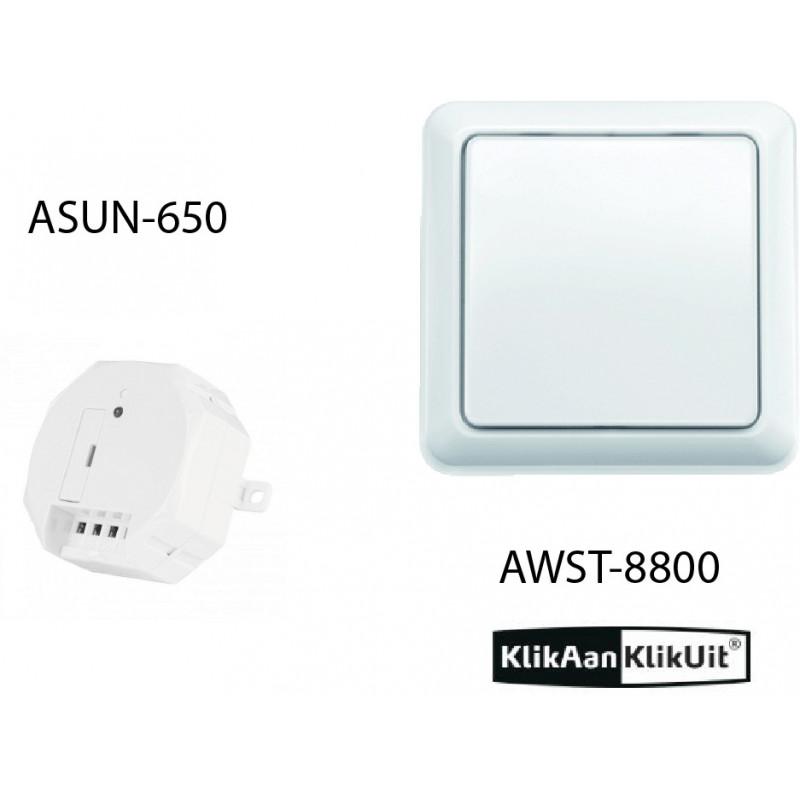 Klikaanklikuit dubbele zonwering/rolluik set - AWST-8800 + ASUN-650