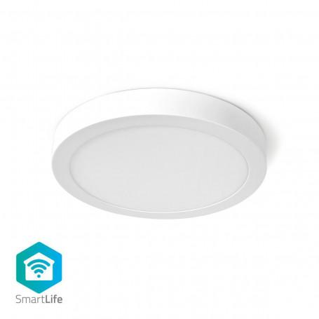 Wi-Fi Smart Plafondlamp | Rond | ø 30 cm | Warm tot Koel Wit | 1200 lm | 18 W | Slank Design | Aluminium