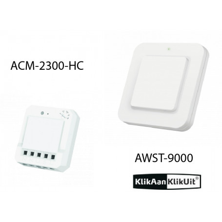 Klikaanklikuit Schakel inbouwset - AWST-9000 + ACM-2300-HC