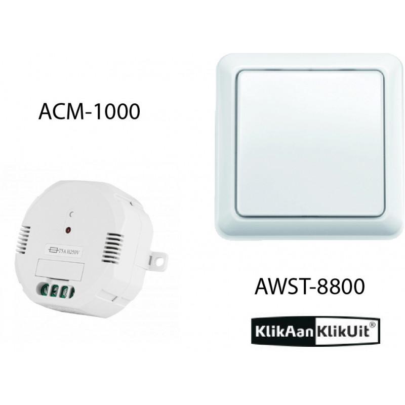 Klikaanklikuit Schakel inbouwset - AWST-8800 + ACM-1000