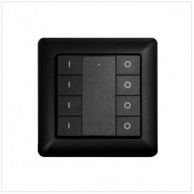 Wandschakelaar Z-Push Button 8 zwart - Heatit- Zwave