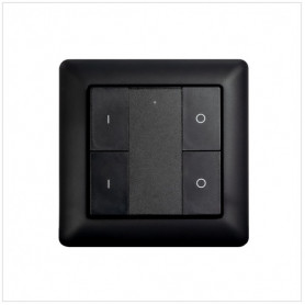 Wandschakelaar Z-Push Button 4 zwart - Heatit- Zwave